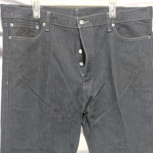 Levi's 562 Button Fly Grey Denim Jeans Men's 42x32